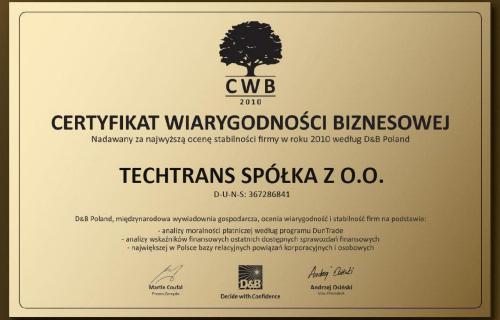 Ilustracja do informacji: Otrzymaliśmy Certyfikat.